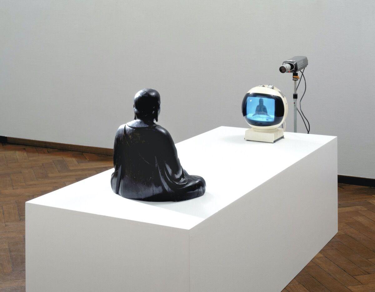 Nam June Paik, TV-Buddha, 1974. Courtesy of  Stedelijk Museum Amsterdam.