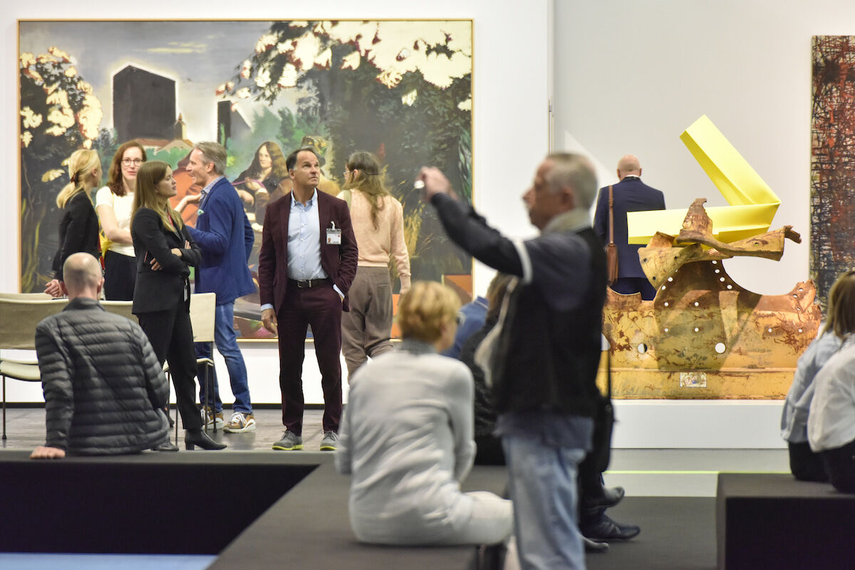 The David Zwirner booth at the 2019 edition of Art Cologne. Courtesy Art Cologne.