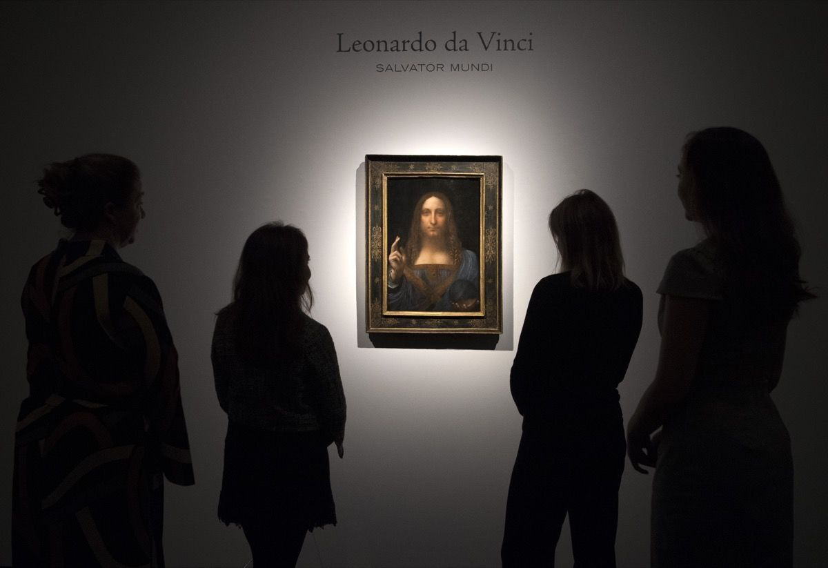 Leonardo da Vinci, Salvator Mundi , ca. 1500. Photo by Carl Court via Getty Images.