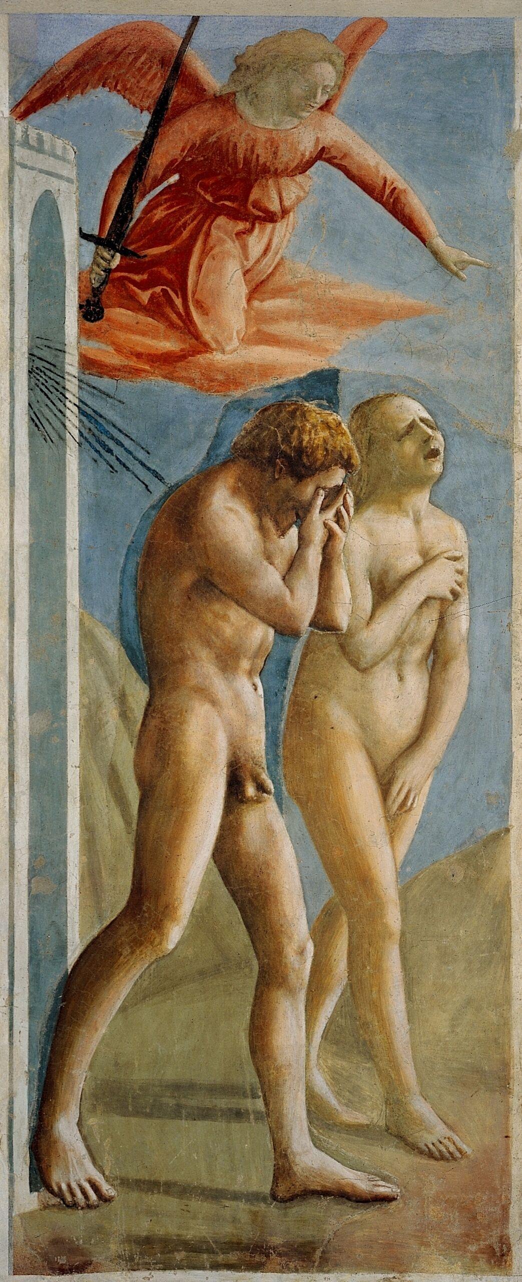 Masaccio, Expulsion from the Garden of Eden, ca. 1427. Image via Wikimedia Commons.