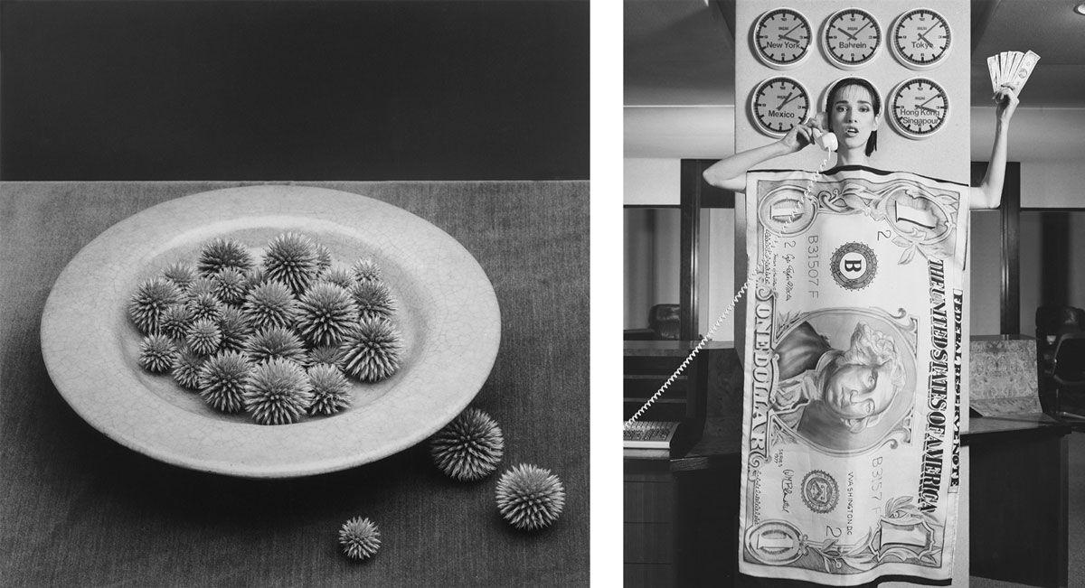 Left: Robert Mapplethorpe, Pods, 1985. Right: Robert Mapplethorpe, Paris Fashion Dovanna, 1984. Images courtesy of Alison Jacques Gallery, London.© Robert Mapplethorpe Foundation.