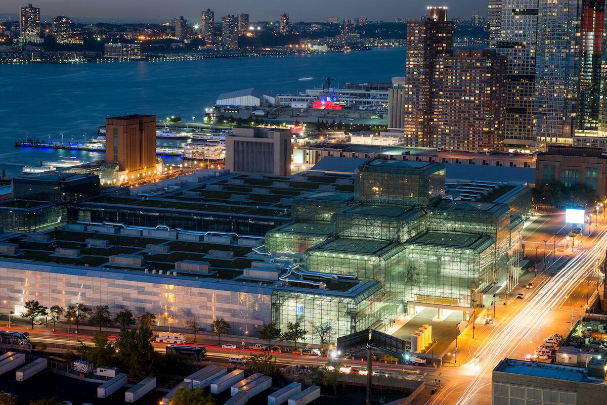 The Javits Center in Manhattan. Photo by Javits Center, via Wikimedia Commons.
