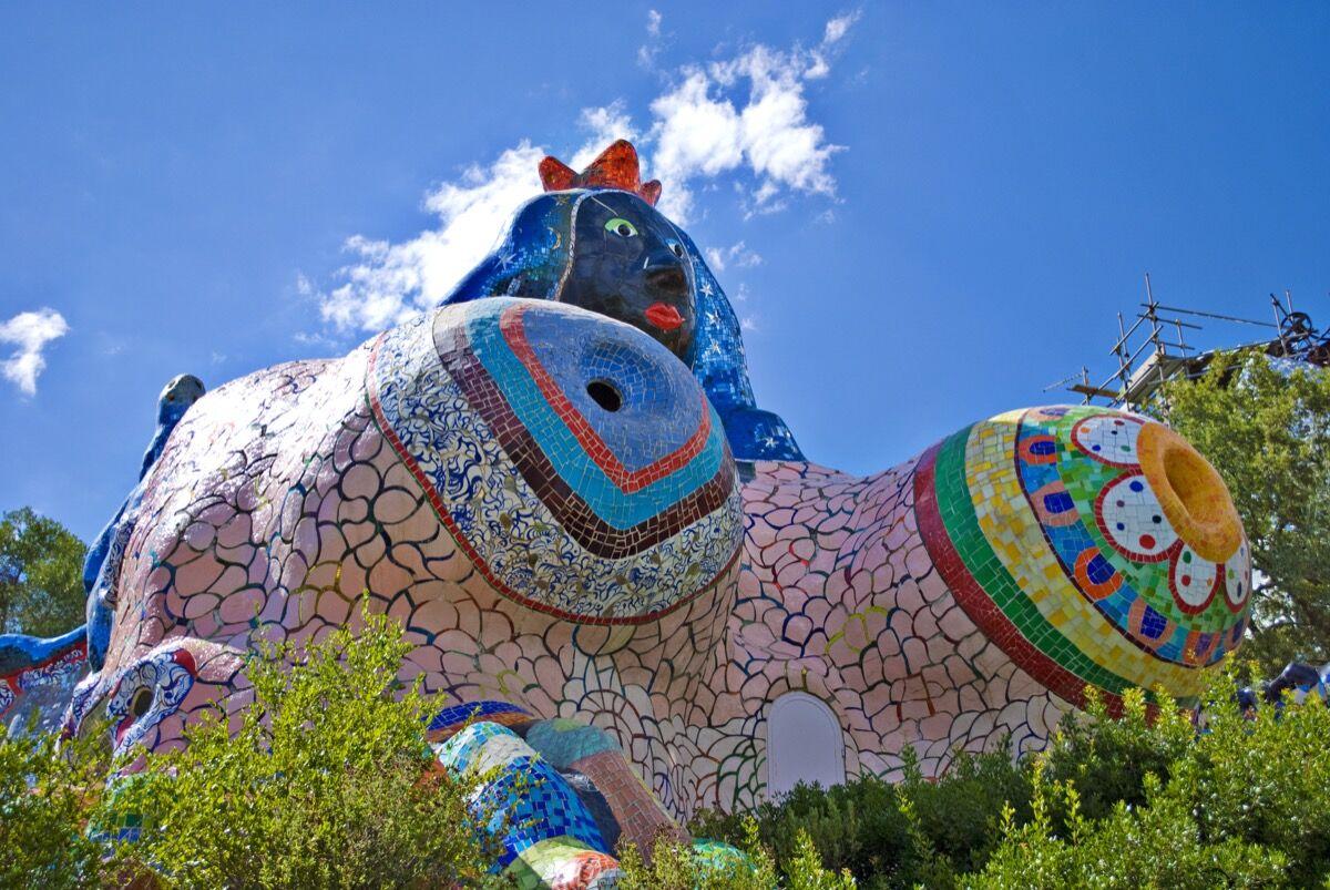 Niki de Saint Phalle, The Tarot Garden, Tuscany, Italy. Photo by Alessandro Bonvini, via Flickr.