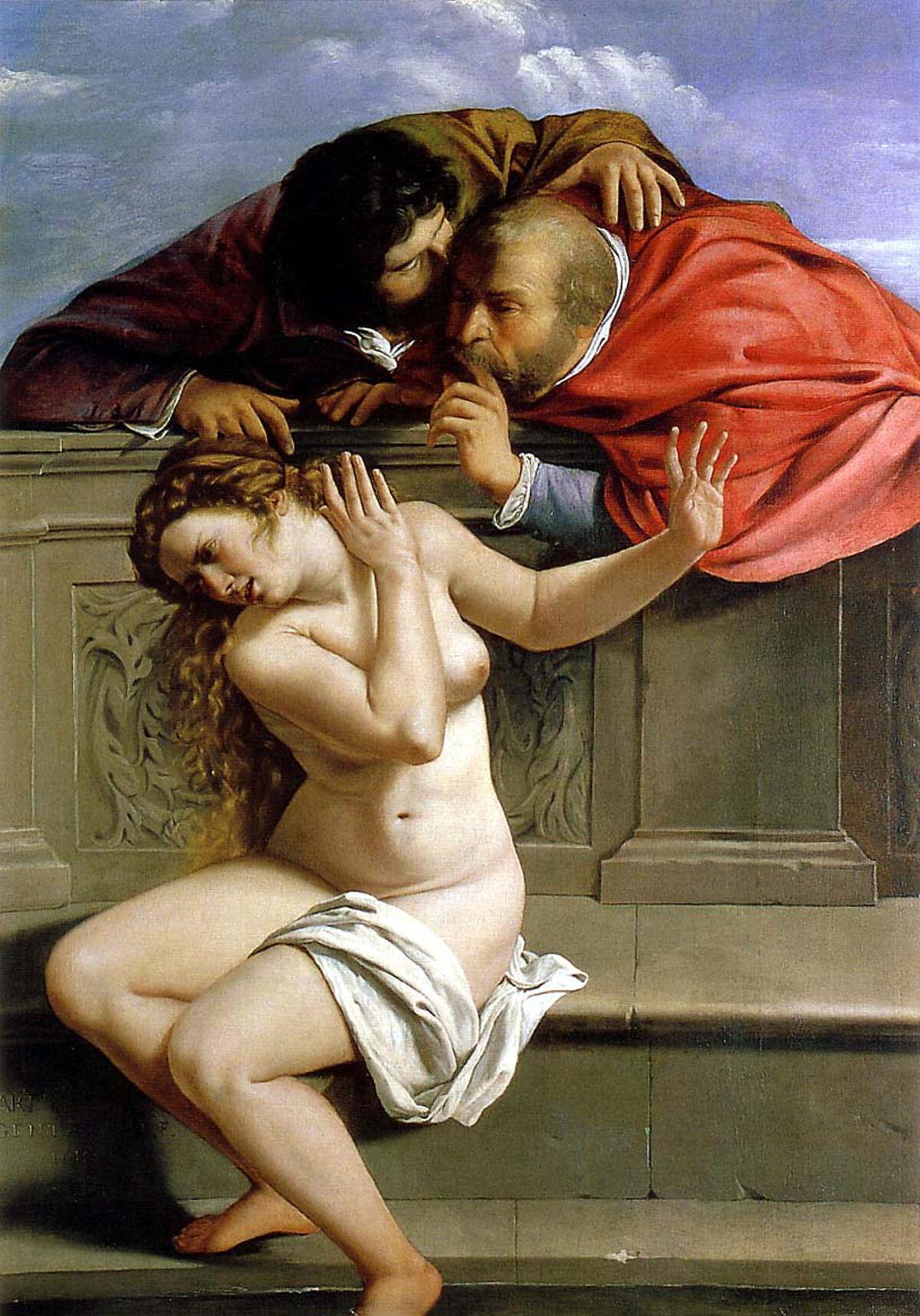 Artemisia Gentileschi, Susanna and the Elders, 1610. Photo via Wikimedia Commons.