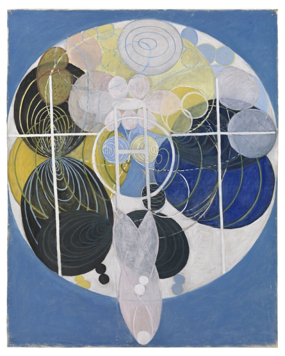 Hilma af Klint, The Large Figure Paintings, No. 5, Group III, 1907. Image via Wikimedia Commons.