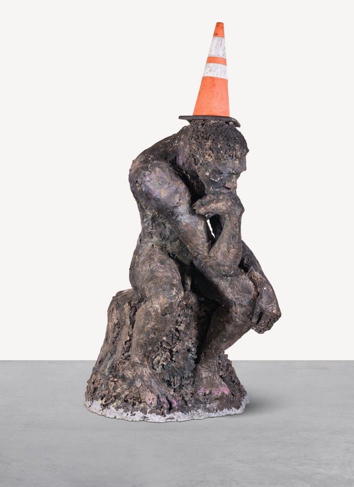 Banksy, The Drinker, 2004. Est. £750,000 to £1 million ($967,000 to $1.2 million). Courtesy Sotheby's.