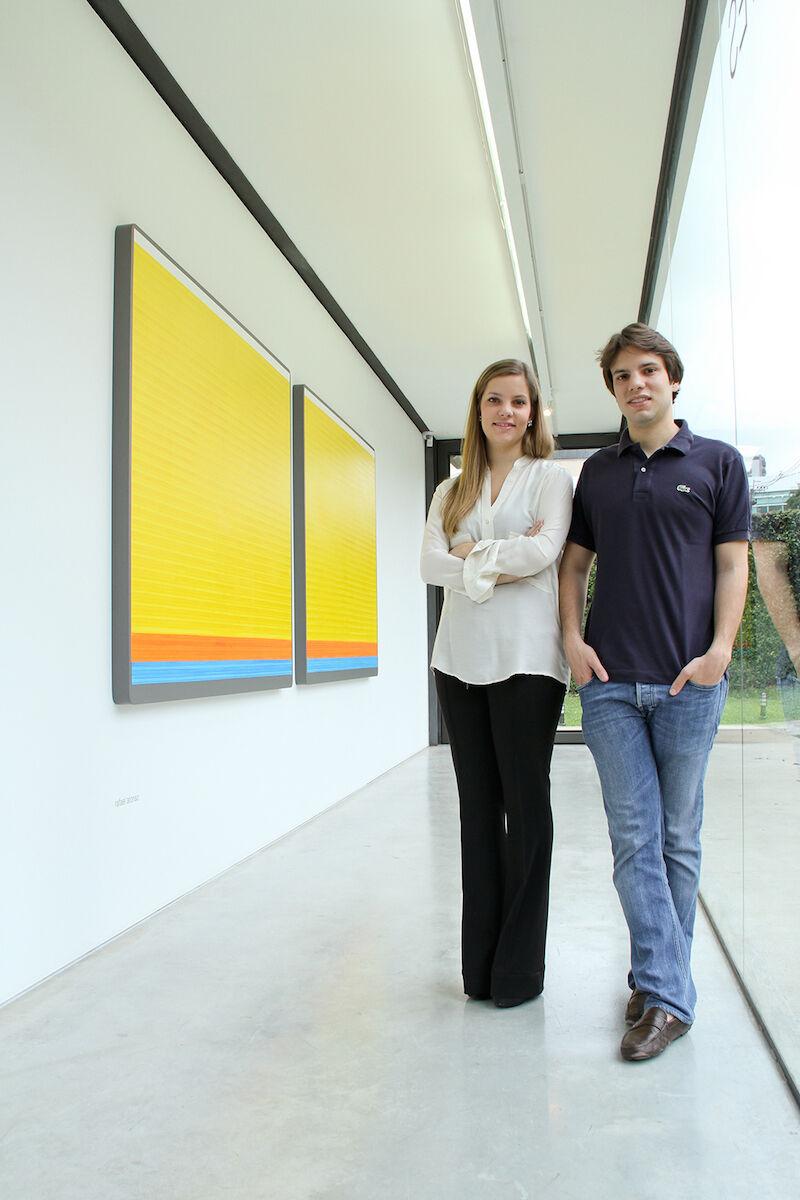 Guilherme S. de Assis and Laura S. de Assis, directors of SIM Galeria. Photo by David Peixoto, courtesy of SIM Galeria.