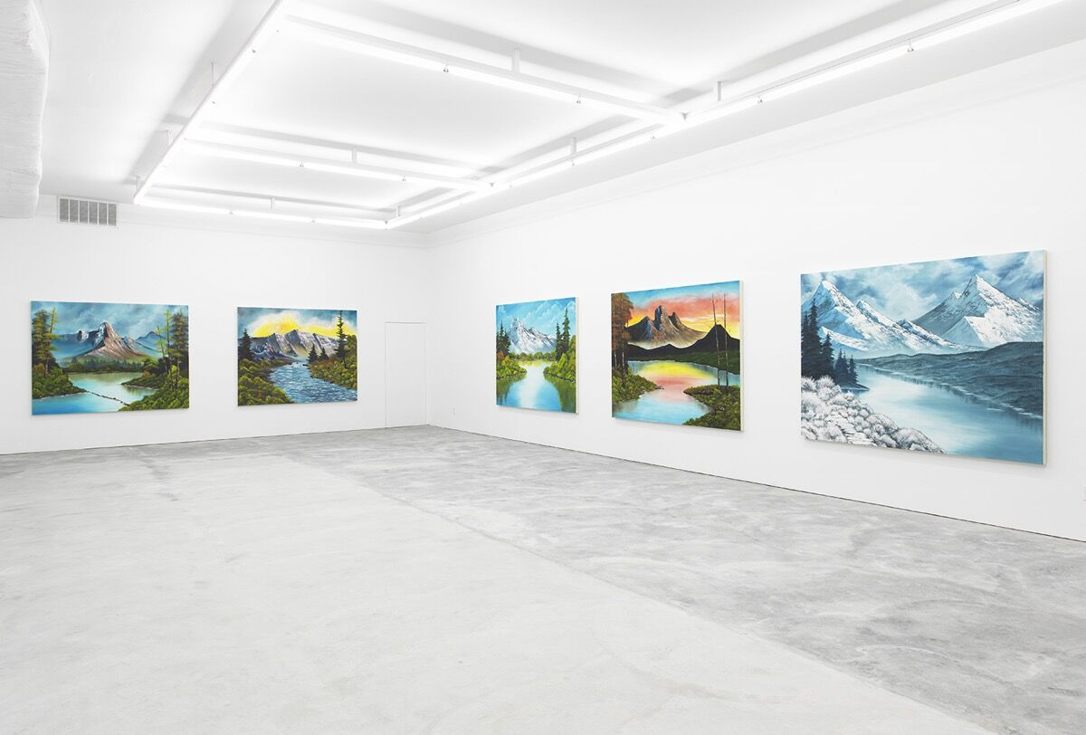 """Installation view from Brendan Lynch's exhibition, """"Mountains Collection,"""" at Howard St. Courtesy of the artist."""