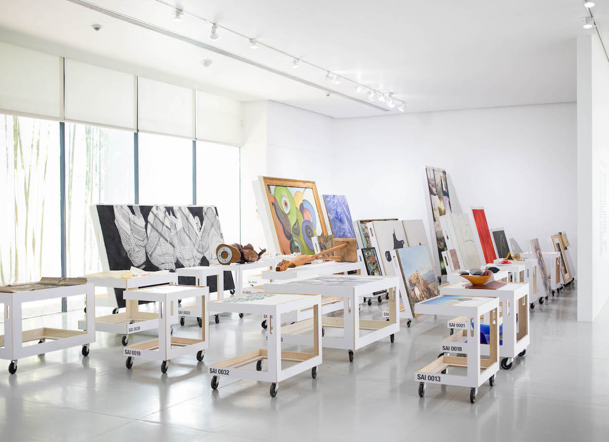"Installation view of  ""No Longer Art: Salvage Art Institute"" at  Museo  de Arte de Zapopan, Mexico, 2019. Courtesy of MAZ."