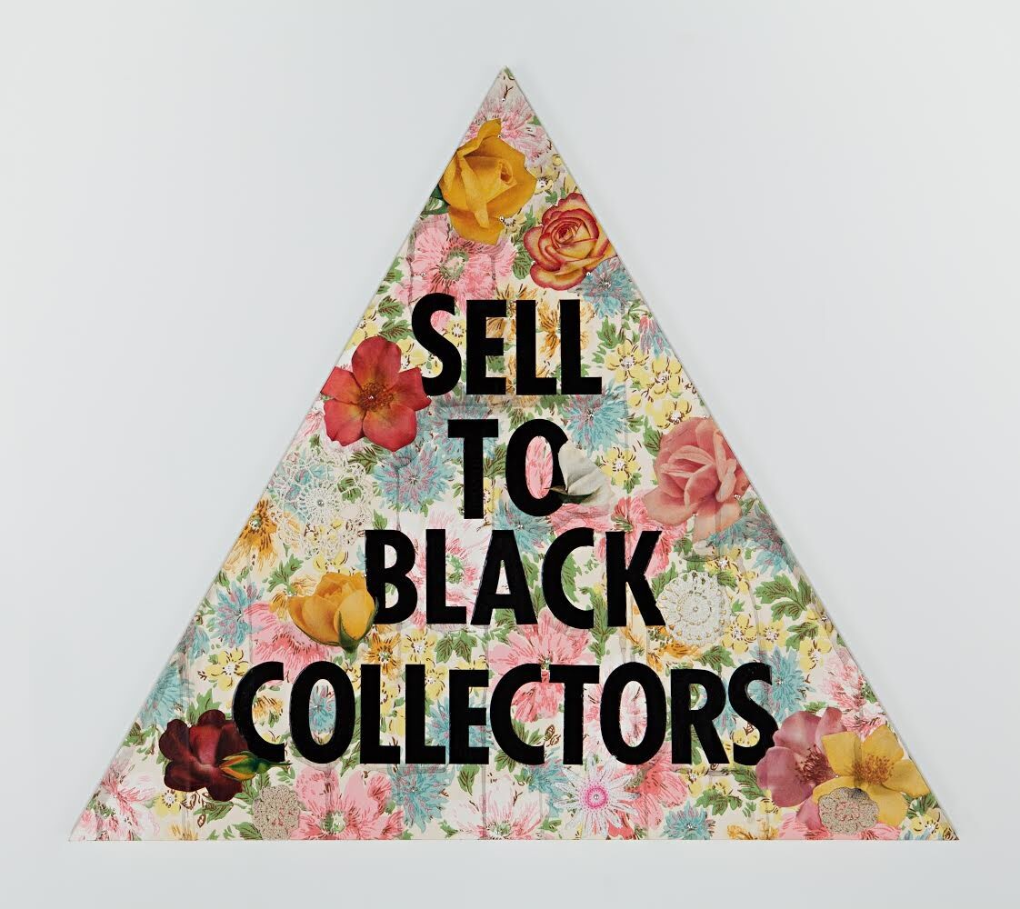 Genevieve Gaignard, Sell To Black Collectors (Pink), 2020. © Genevieve Gaignard. Courtesy of the artist and Vielmetter Los Angeles.