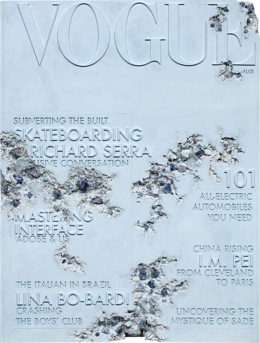 Daniel Arsham, Quartz Eroded Vogue Magazine 101, 2019. Courtesy of Phillips.