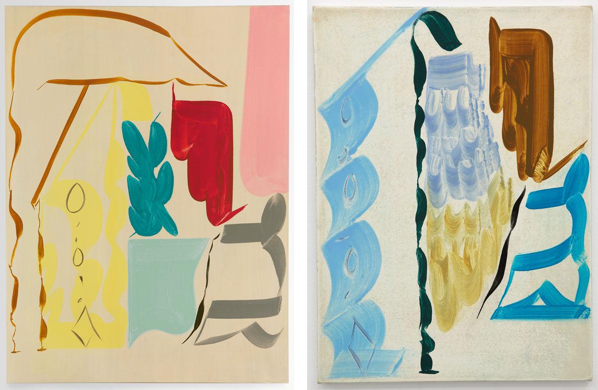 Left: Patricia Treib, Frock, 2016; Right: Patricia Treib, Untitled, 2016. Images courtesy of Galería Marta Cervera.