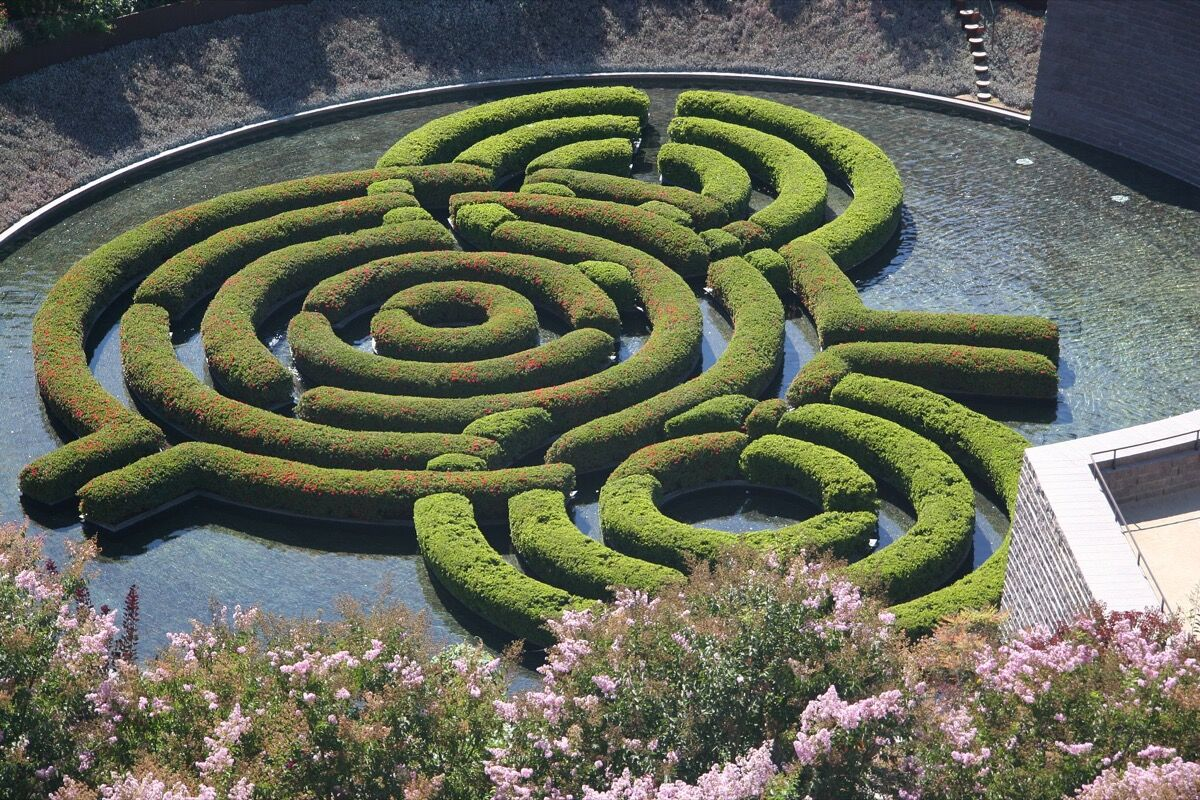 Robert Irwin's The Central Garden at Getty Center. Image via Wikimedia Commons.
