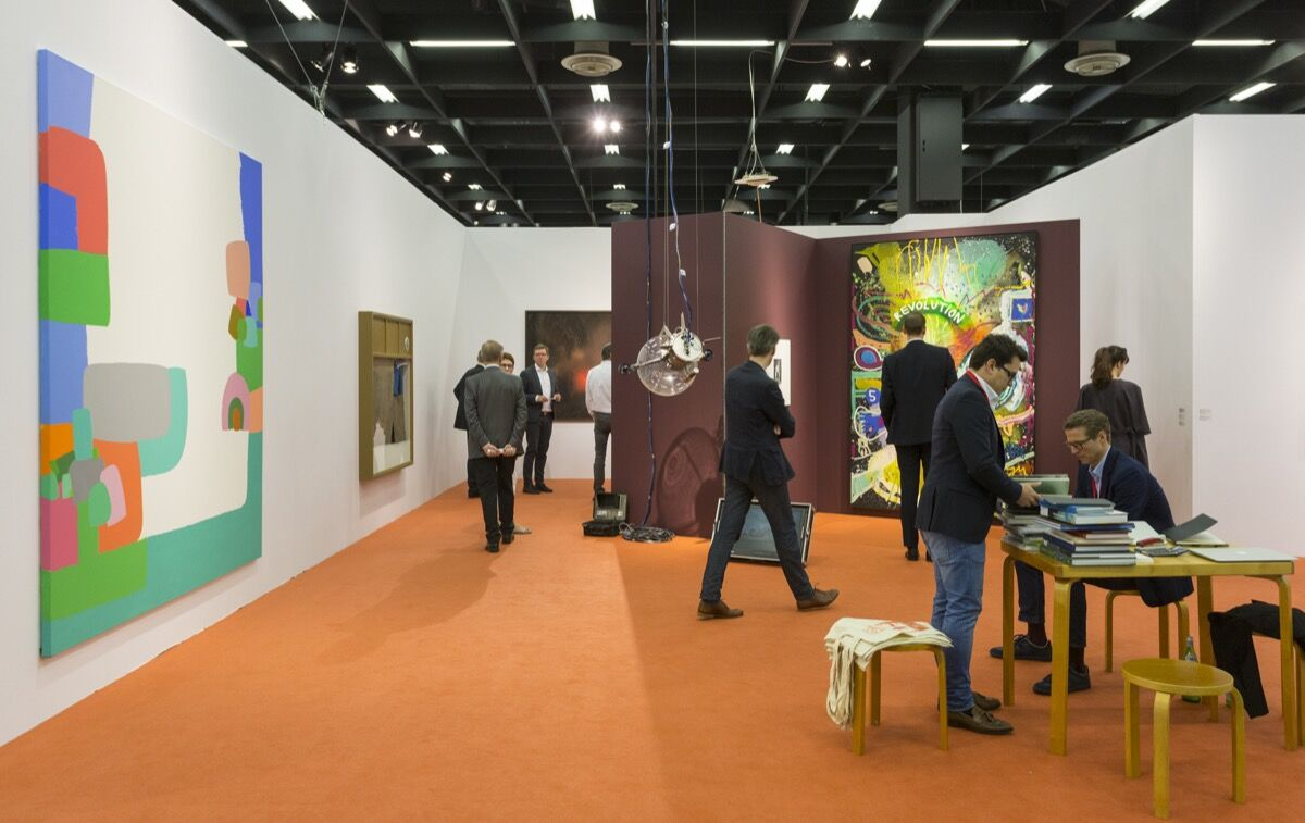 Installation view of Sies + Höke's booth at Art Cologne, 2018. Courtesy of Art Cologne.
