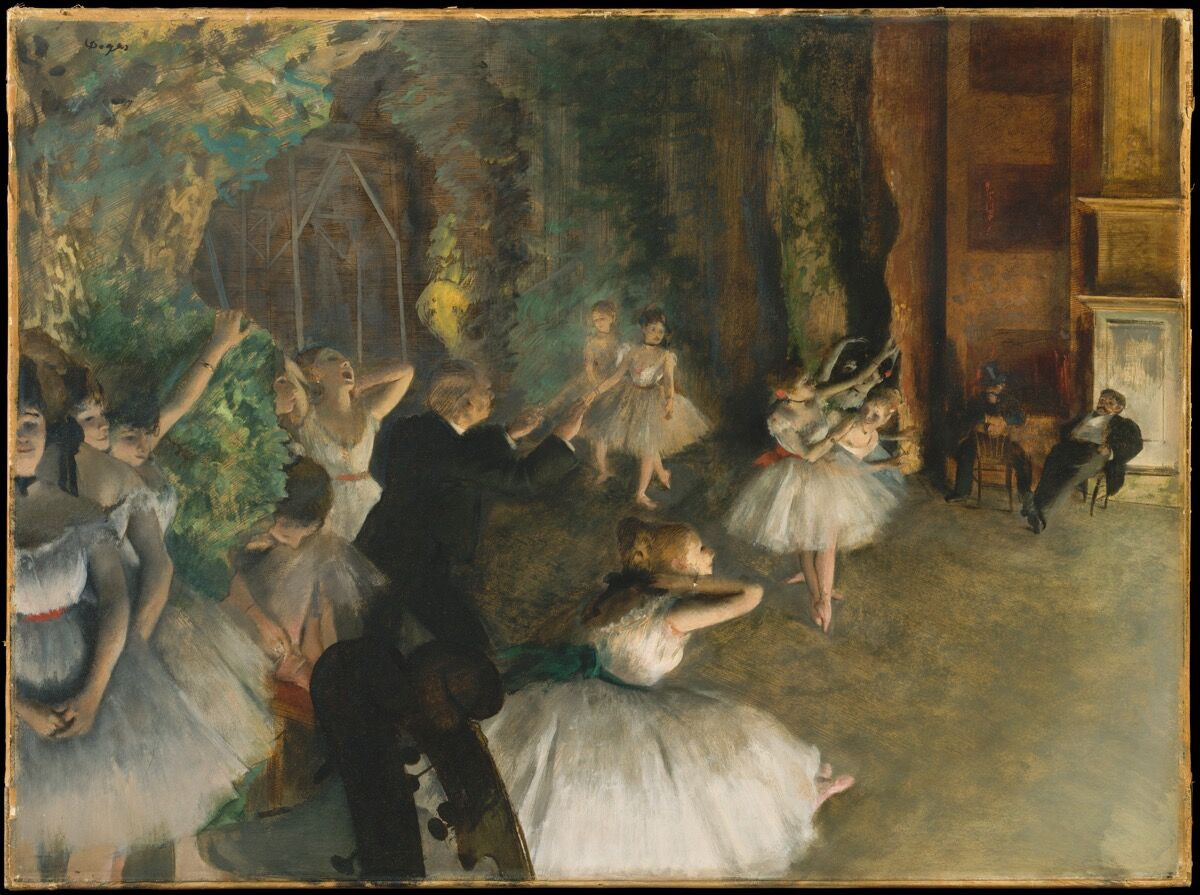 Edgar Degas, The Rehearsal of the Ballet Onstage, ca. 1874. Courtesy of the Metropolitan Museum of Art.
