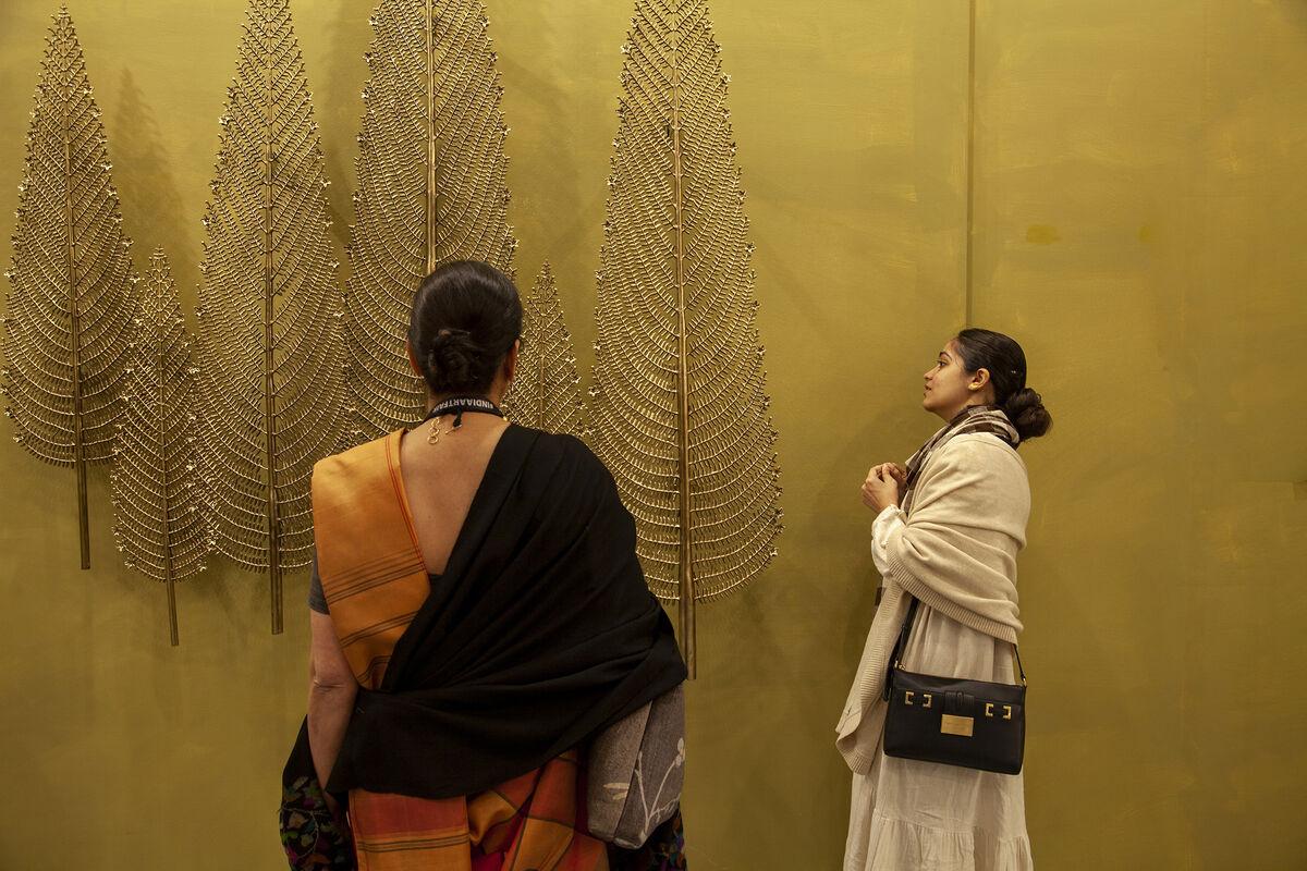 Installation view at India Art Fair, 2020. Photo by Jeetin Sharma. Courtesy of India Art Fair.