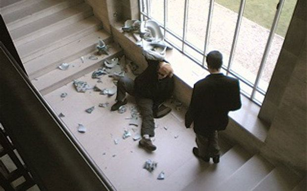 Nick Flynn tripped and damaged several Qing dynasty vases at Cambridge's Fitzwilliam Museum in 2006. Photo: Steve Baxter, via the Telegraph.