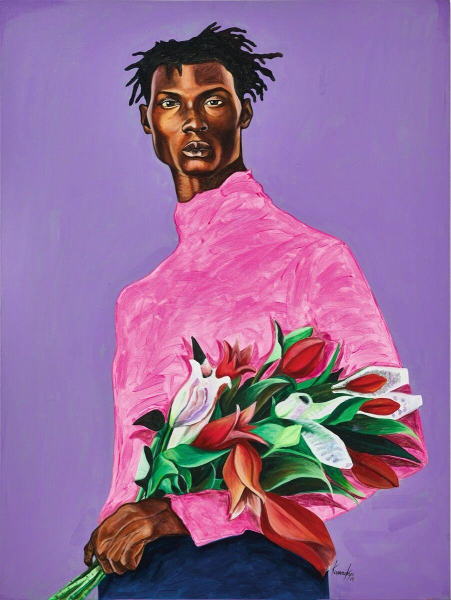 Otis Kwame Kye Quaicoe, Flower Boy, 2019. Courtesy of Sotheby's.