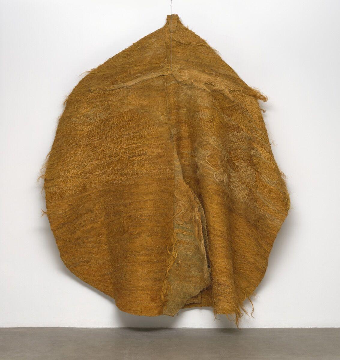 Magdalena Abakanowicz, Yellow Abakan, 1967-68. Courtesy of the Museum of Modern Art.