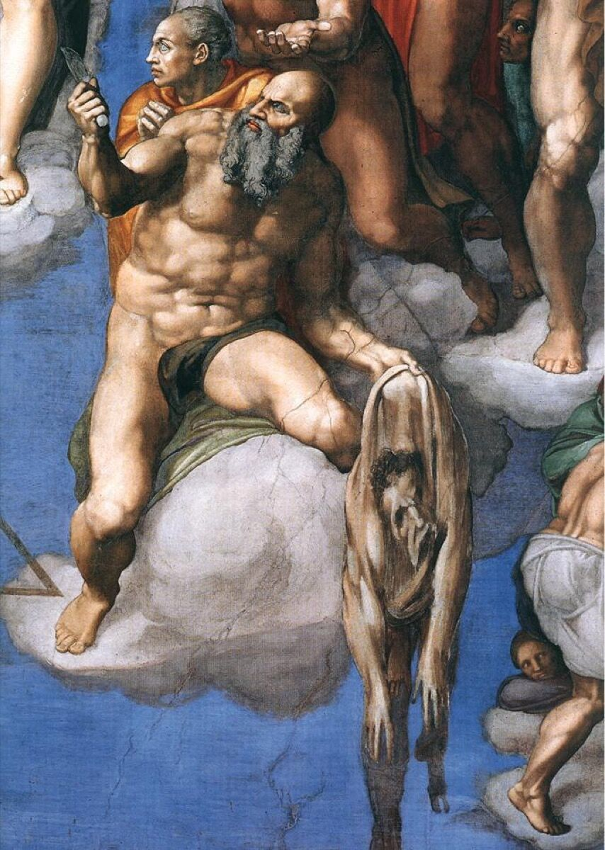 Detail from Michelangelo, The Last Judgment, ca. 1536–41. Image via Wikimedia Commons.