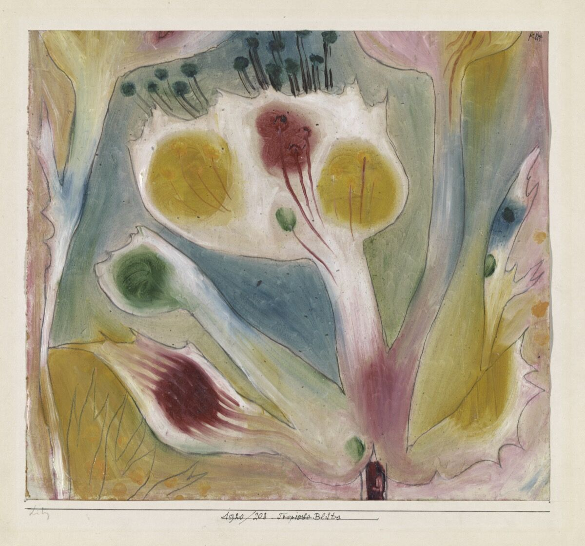 Paul Klee, Tropical Blossom, 1920. Zentrum Paul Klee, Bern Switzerland. Courtesy of the Phillips Collection.