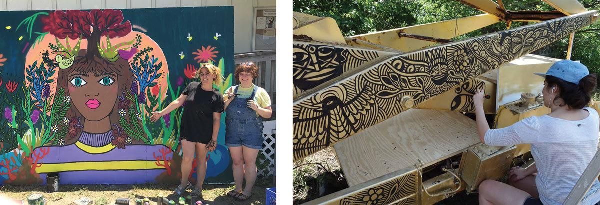 "Artwork on view at Rockaway Artists Alliance's ""Forbidden Fruit: Street Art in a National Park."" Photos courtesy of Rockaway Artists Alliance."