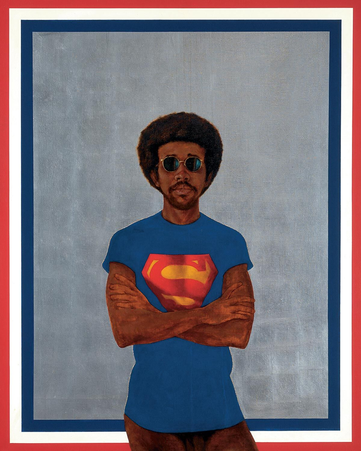 Barkley L. Hendricks, Icon for my Man Superman (Superman Never Saved Any Black People-Bobby Seale), 1969. © Estate of Barkley L. Hendricks. Courtesy of the artist's estate and Jack Shainman Gallery, New York.