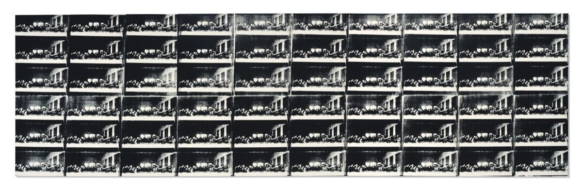Andy Warhol, Sixty Last Suppers, 1986. Per gentile concessione di Christie & # x27; s.