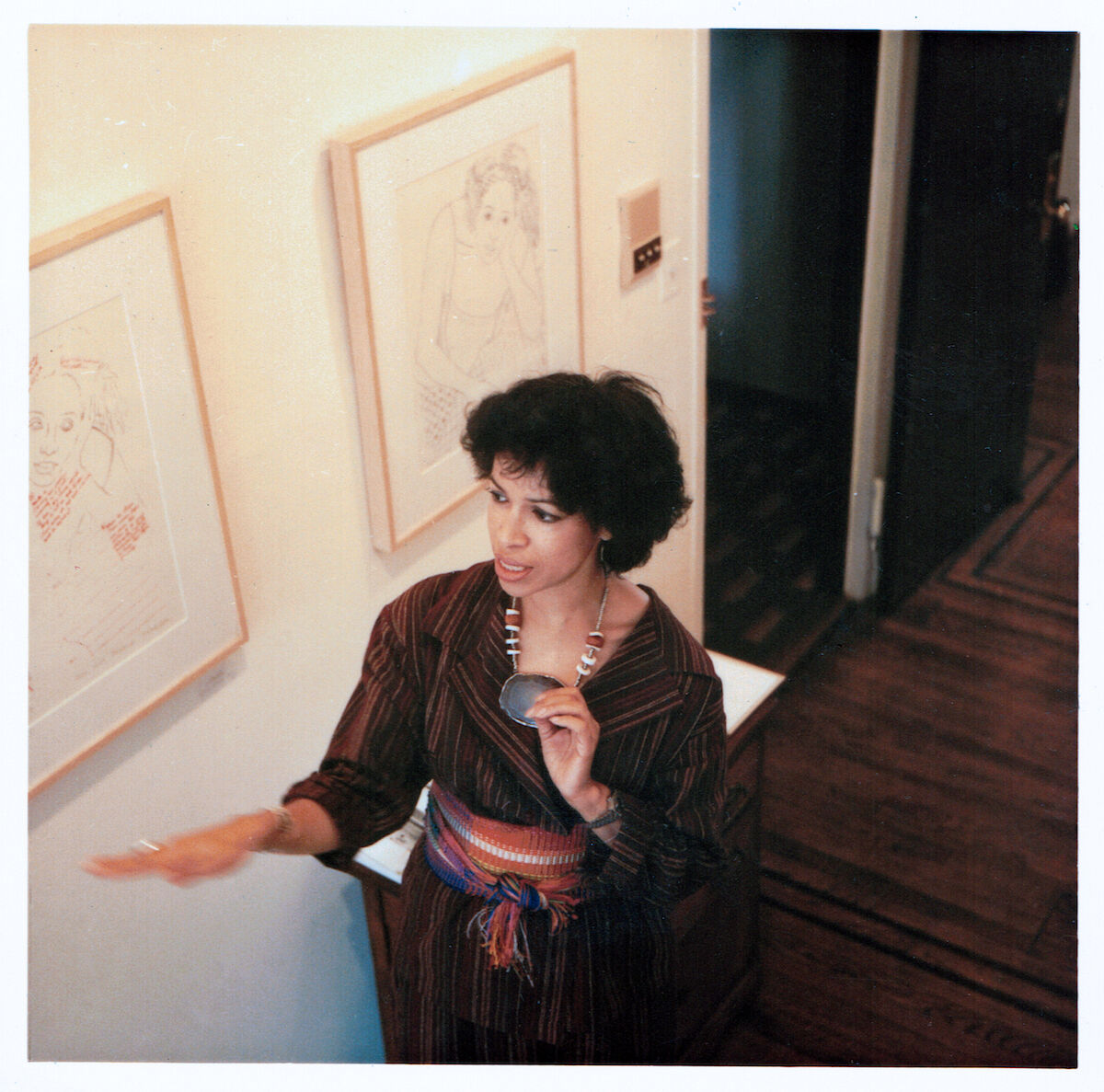Emma Amos at the Art Salon Show, 1979. Courtesy Ryan Lee.