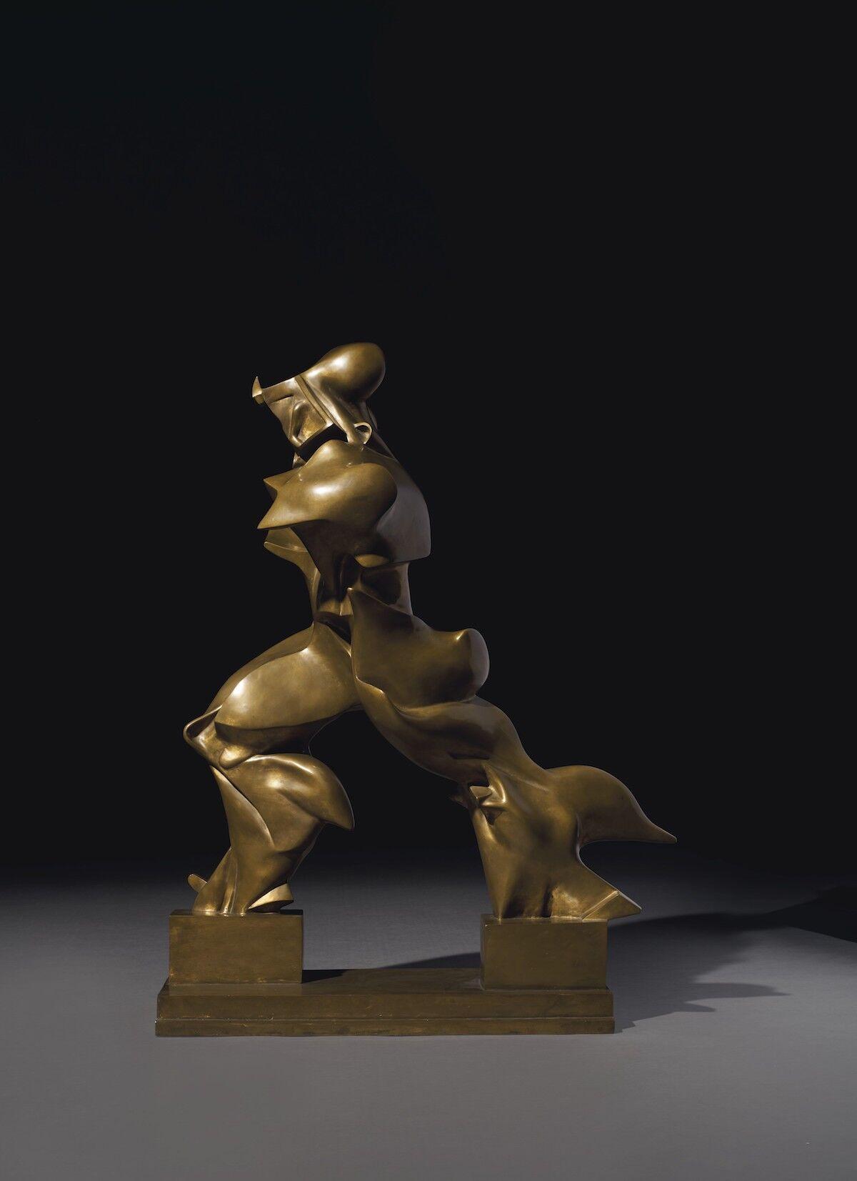 Umberto Boccioni, Forme uniche della continuità nello spazio (Unique Forms of Continuity in Space), 1913. Sold for $16.1 million. Courtesy Christie's Images Ltd.