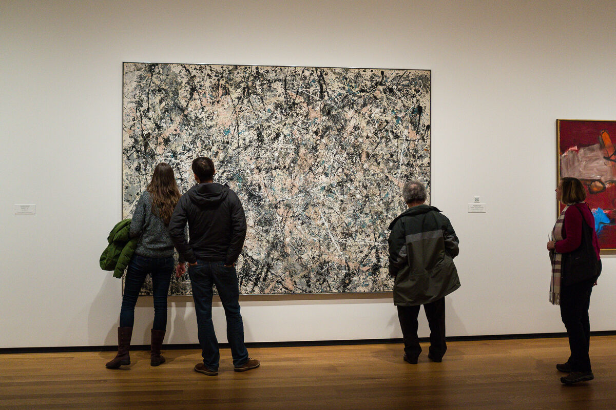 Jackson Pollock, Number 1, 1950 (Lavender Mist), 1950. © 2018 The Pollock-Krasner Foundation / Artists Rights Society (ARS), New York. Photo by Phil Roeder, via Flickr.
