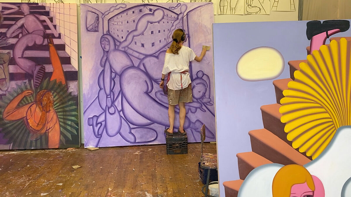 Grace Weaver in her studio, 2020. Courtesy of the artist and James Cohan, New York.