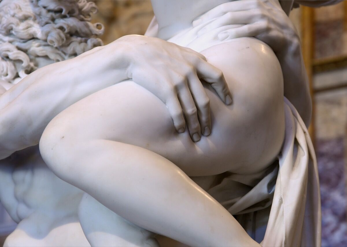 Detail of Gian Lorenzo Bernini,  Pluto and Proserpina , 1621–22. Image via Wikimedia Commons.