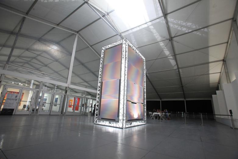 Felipe Pantone, Dimensional Iridescence, 2017, Sculpture Installation   Courtesy of Mirus Gallery, Image courtesy of SCOPE