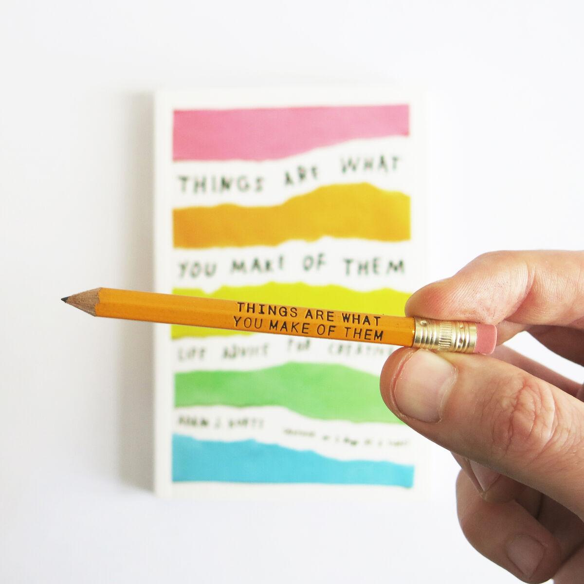Pencil and book. Courtesy of Adam J. Kurtz.