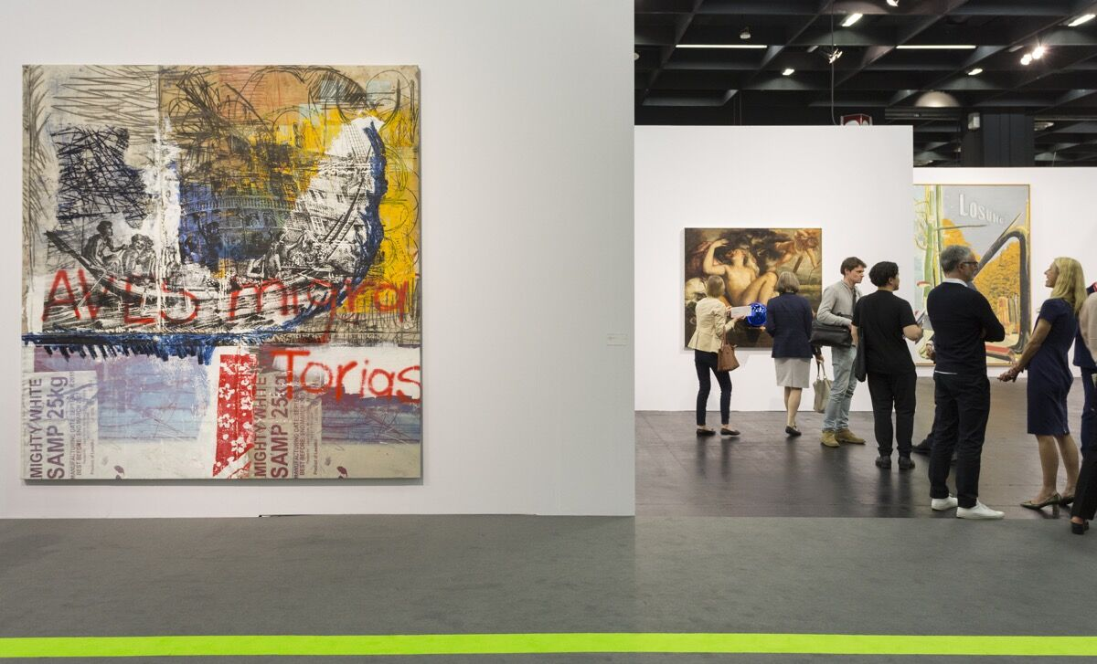 Installation view of David Zwirner's booth at Art Cologne, 2018. Courtesy of Art Cologne.