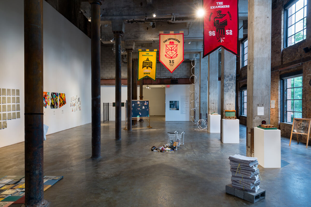"Installation view of ""Race and Revolution: Still Separate – Still Unequal"" at Smack Mellon. Courtesy of Smack Mellon. Photo by Etienne Frossard."