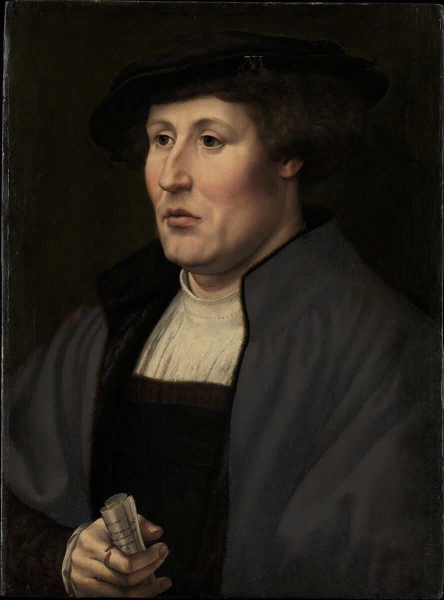 Jan Gossart, Portrait of a Man, ca. 1520–25. Courtesy of The Metropolitan Museum of Art.