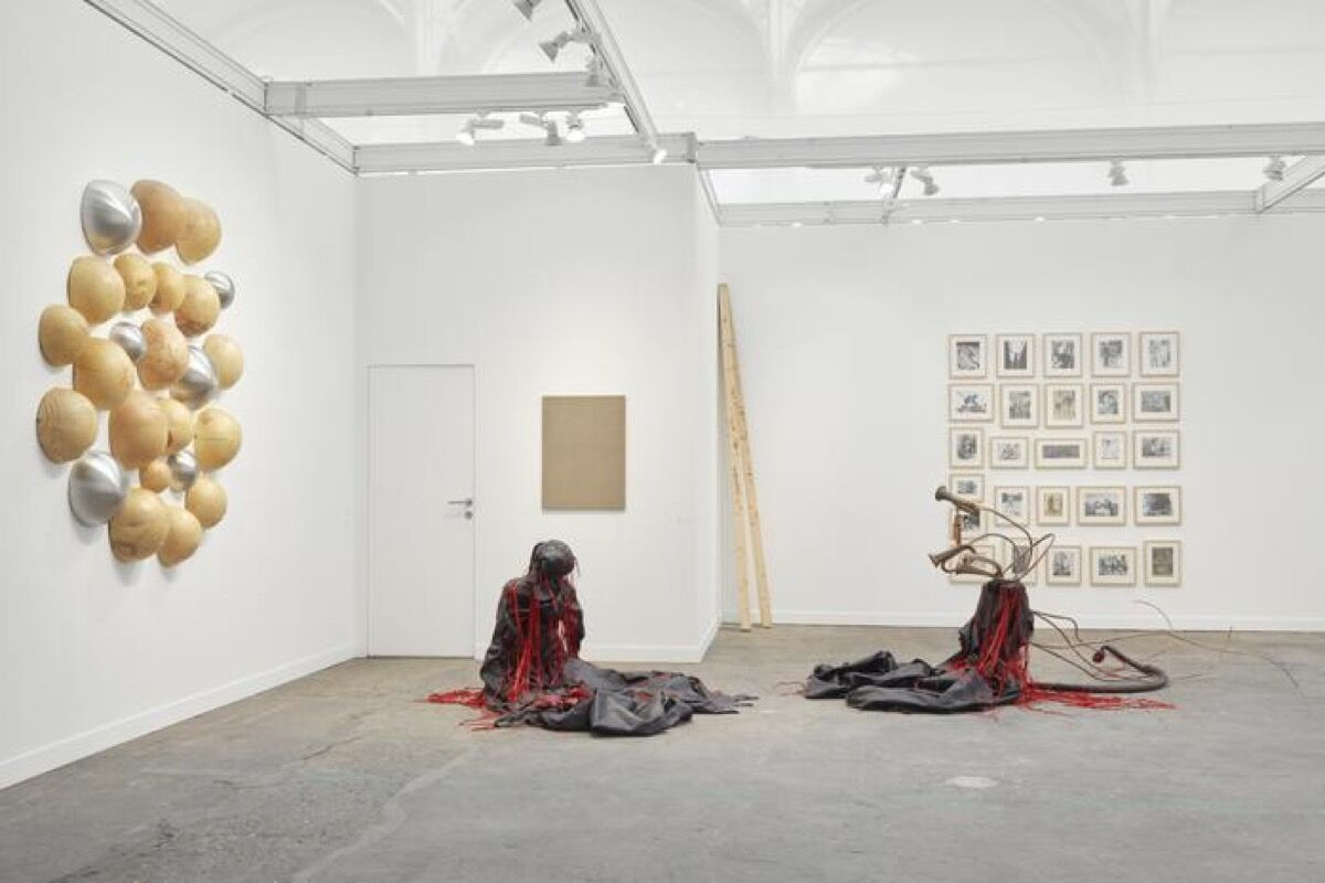 Installation view of Lehmann Maupin's booth at FIAC, 2017. Photo by Robert Giowacki. Courtesy the artists and Lehmann Maupin, New York and Hong Kong.