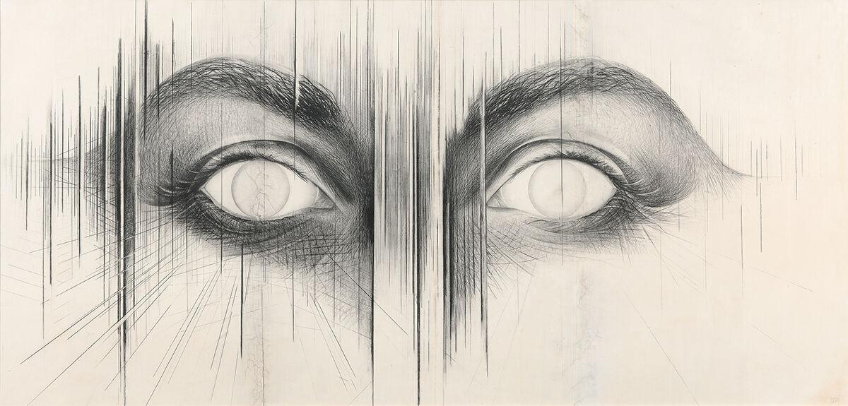 Jay DeFeo, The Eyes, 1958. © 2018 The Jay DeFeo Foundation/Artists Rights Society (ARS), New York.