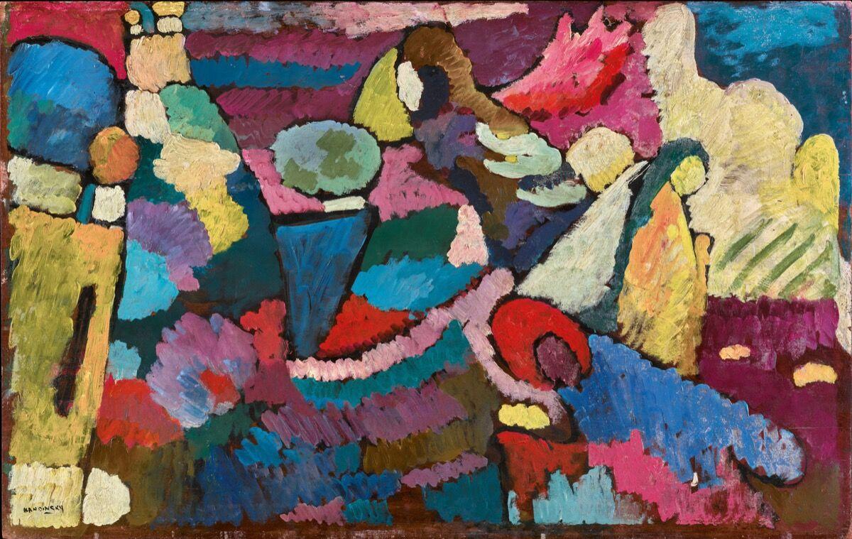 Wassily Kandinsky, Improvisation on Mahogany , 1910. Courtesy of Sotheby's.