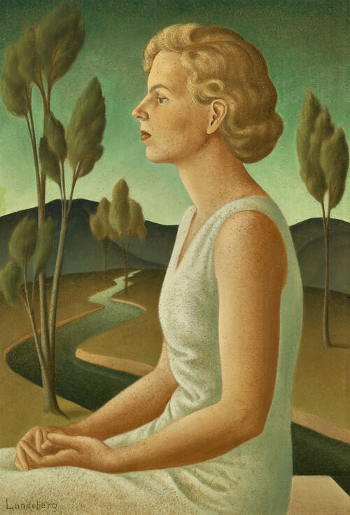 Helen Lundeberg, Portrait of Inez, 1933. © The Feitelson / Lundeberg Art Foundation, courtesy of Louis Stern Fine Arts.