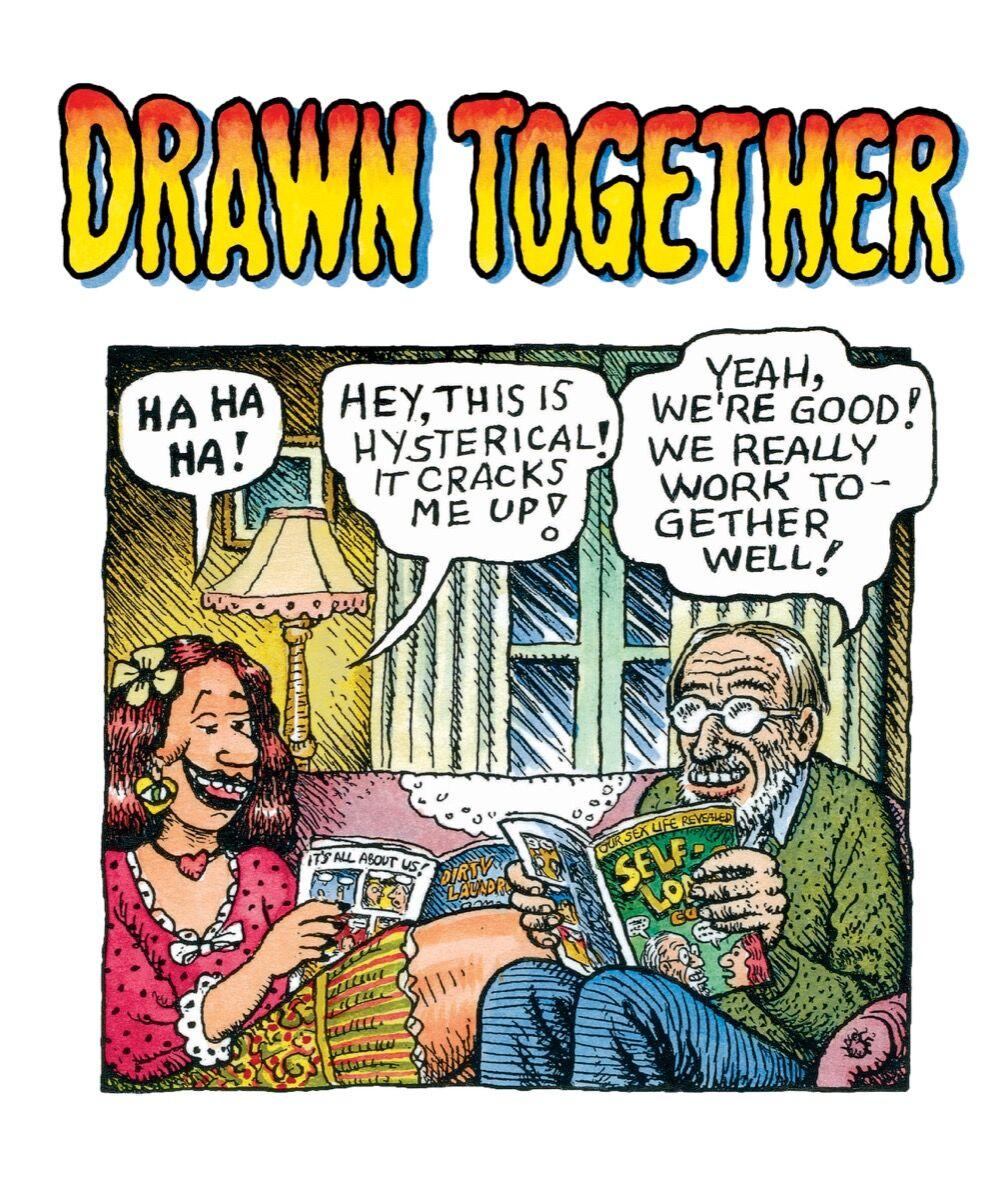 Aline Kominsky-Crumb & Robert Crumb,Drawn Together, Cartoonmuseum Basel, 2016. Image courtesy of the artists.