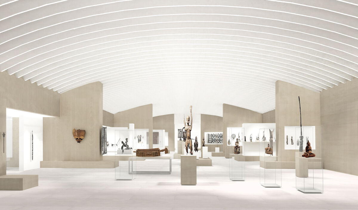 The future entrance to the African art gallery from Greek and Roman at the Metropolitan Museum of Art. Image by wHY, courtesy the Metropolitan Museum of Art.