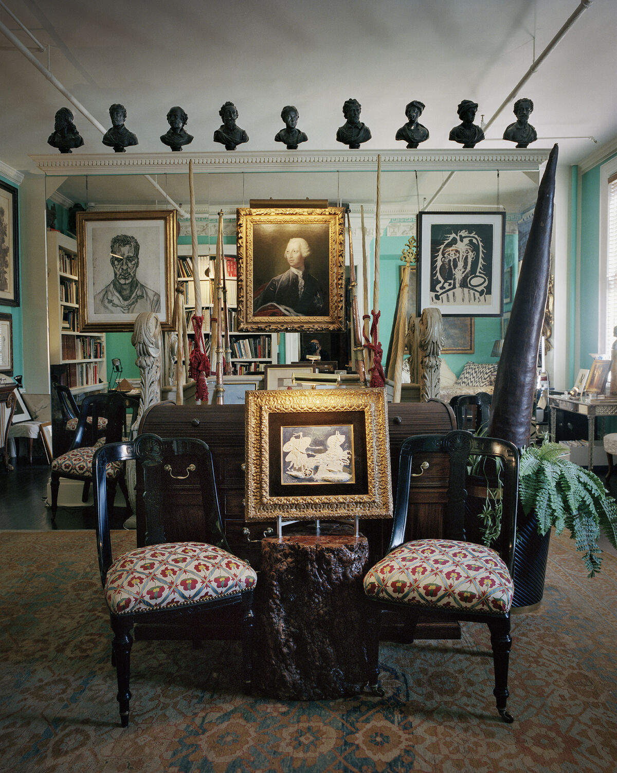 View of John Richardson's collection. Photo by François Halard. Courtesy of Sotheby's.
