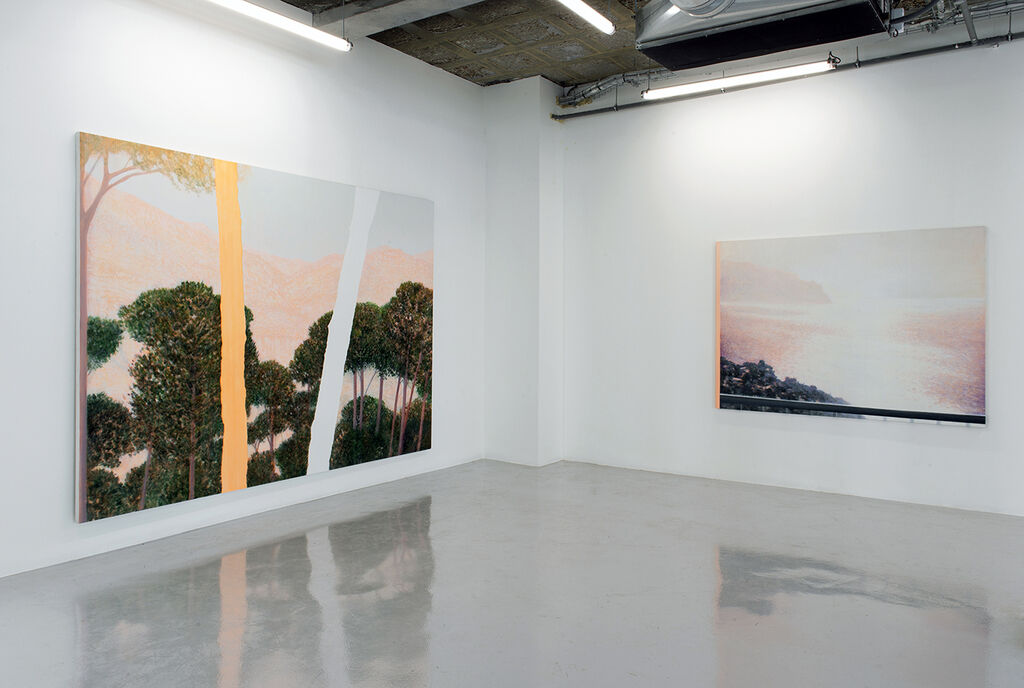 """Daniele Genadry, installation view of """"Staring in Place"""" at In Situ - Fabienne Leclerc for LE PARI(S), 2020. Courtesy of In Situ - Fabienne Leclerc."""