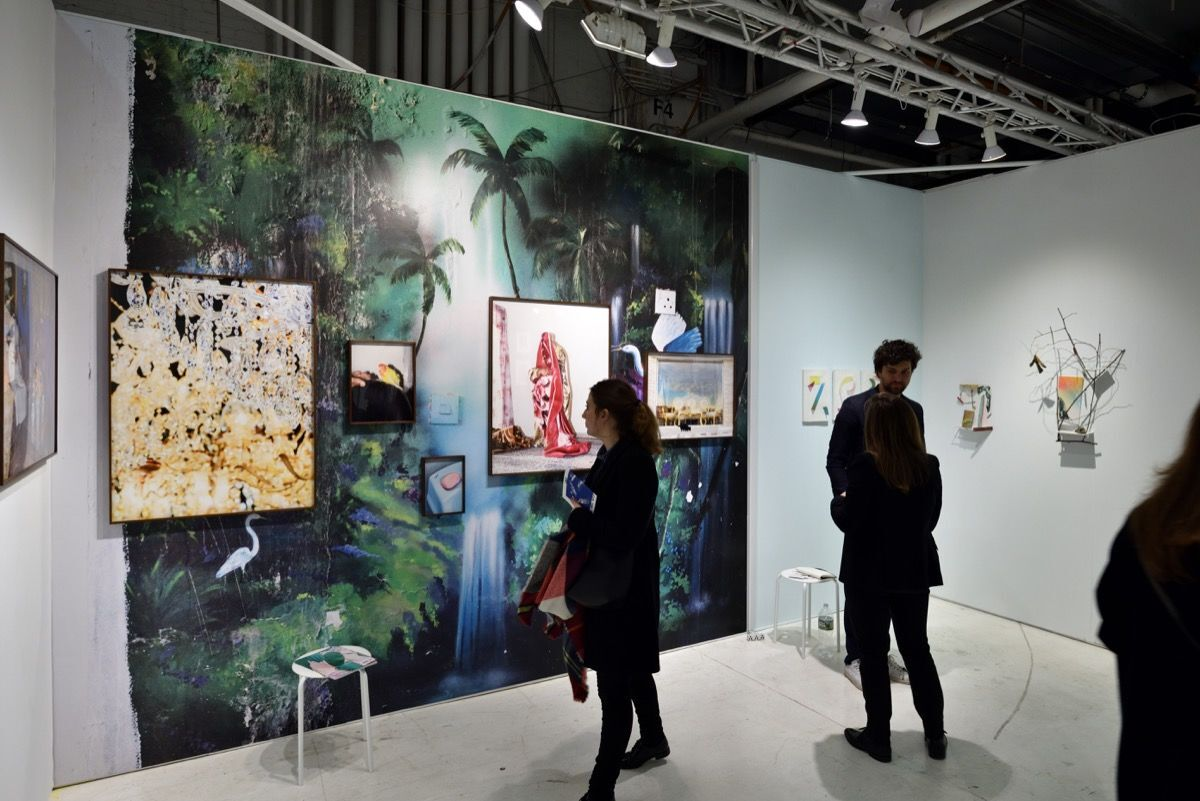 Installation view of booth at NADA New York, 2018. Photo by Stephen Smith. Courtesy of NADA.
