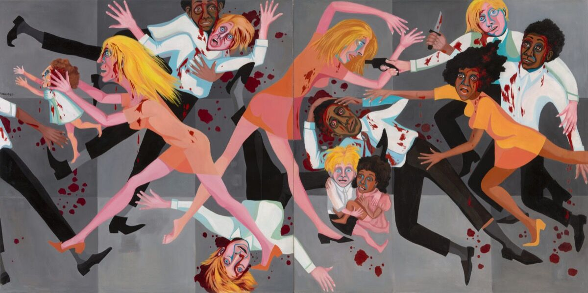 Faith Ringgold, American People Series #20: Die, 1967. Courtesia do Museum of Modern Art