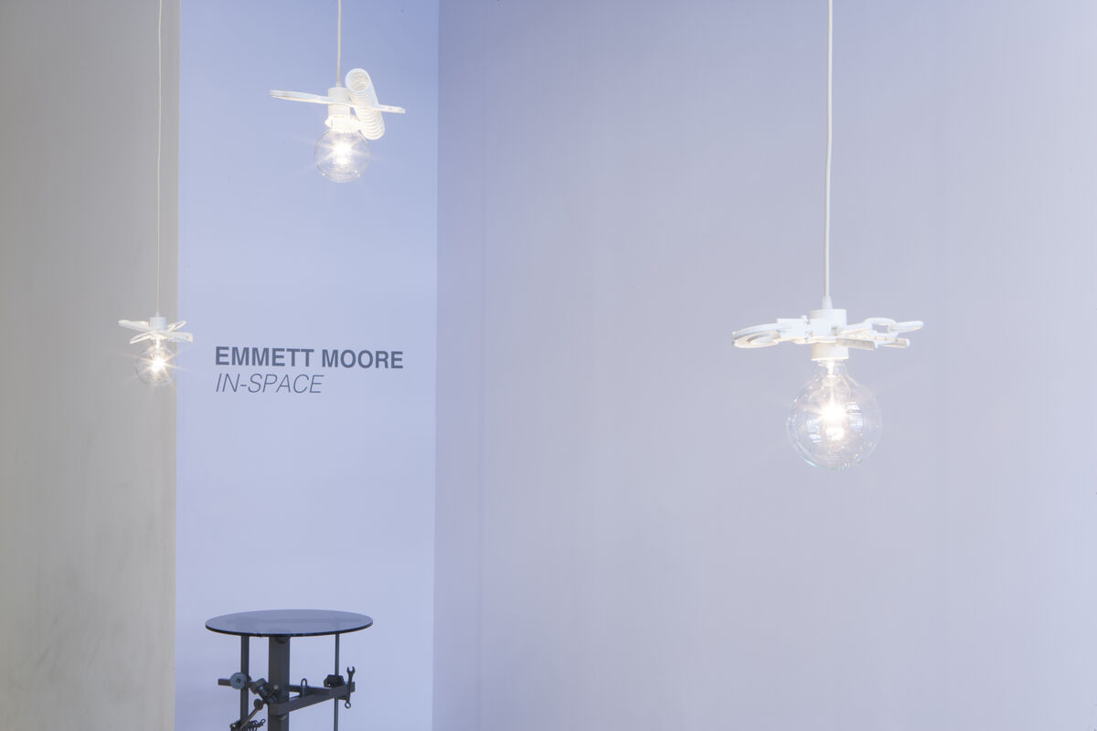 """Installation view ofEmmett Moore,""""IN–SPACE,"""" courtesy of Patrick Parrish Gallery. Photo by Clemens Kois."""