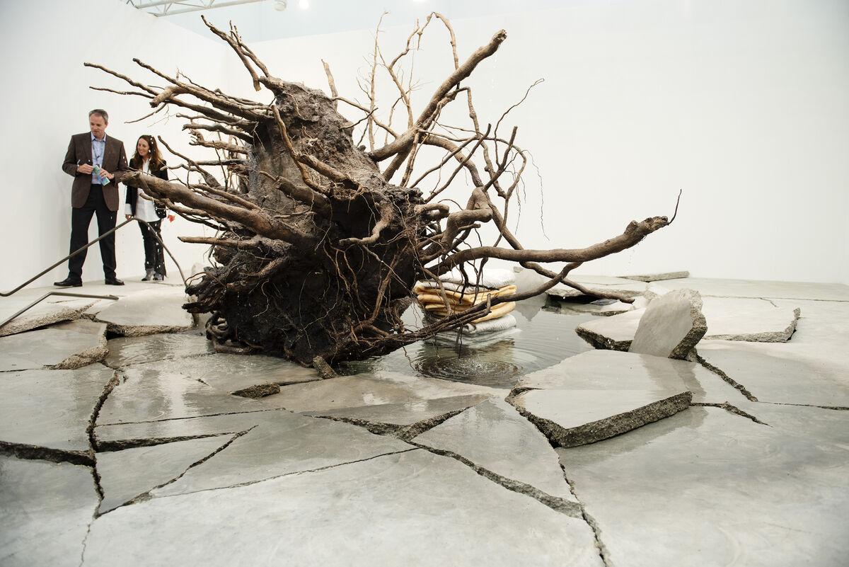 Installation view of Tatiana Trouvé's The Shaman, 2018. Photo by Linda Nylind. Courtesy of Linda Nylind/Frieze.